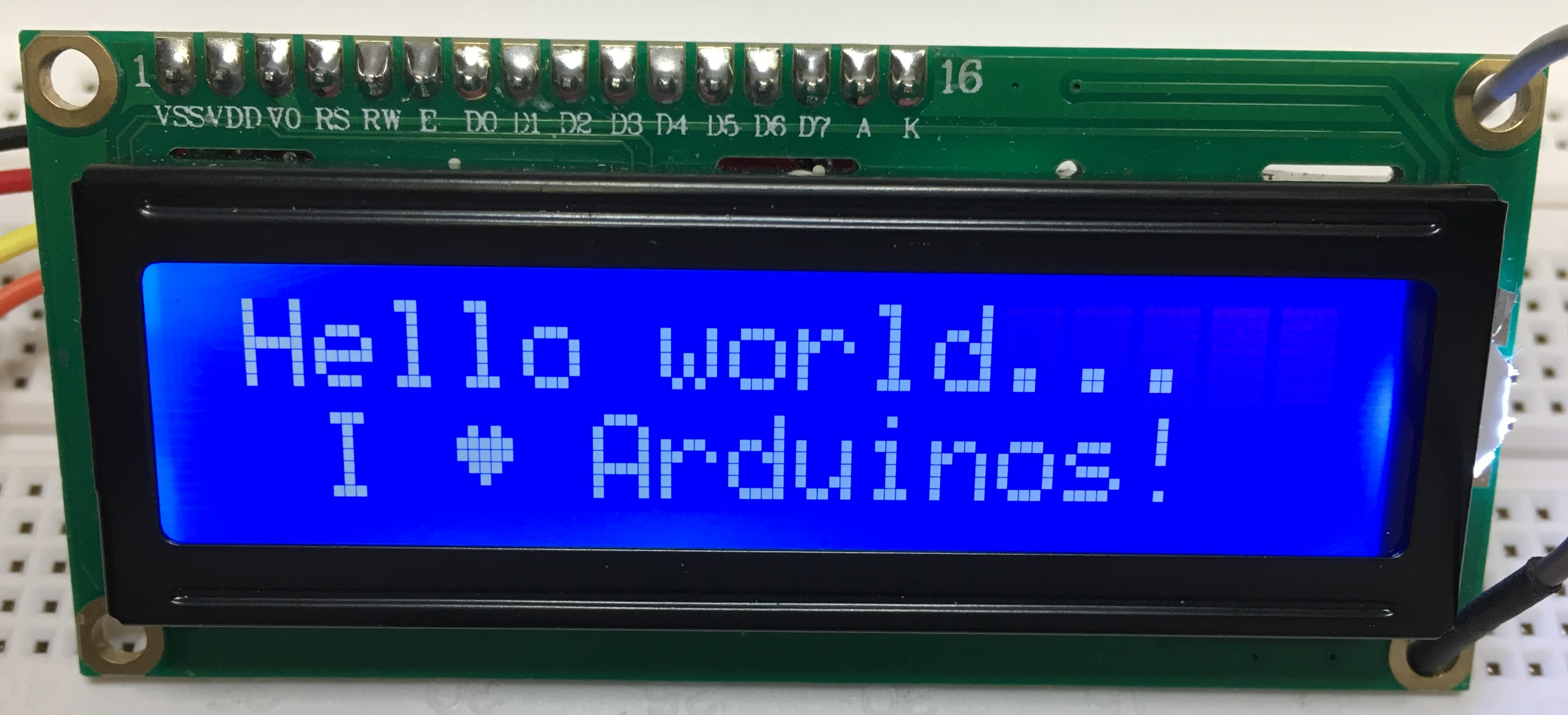 SKETCHES: LCD Character Displays